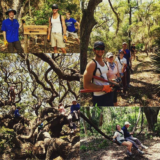 This crazy bunch from Georgia Southern helped me finish up my trail projects this week! They did an amazing job on over 8 moles of trail. #cumberlandisland #thisismyga #gasouthern