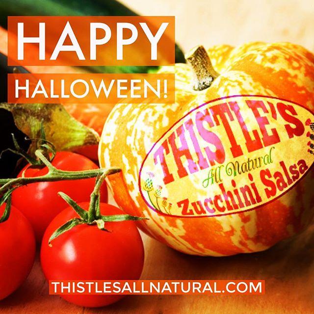 #HappyHalloween everyone! #nhliving #nh #zucchini #thistlesallnatural #zucchini #glutenfree #thistles #soyfree #salsa #eatmoresalsa