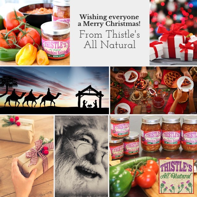 Wishing everyone a very Merry Christmas from Thistle's All Natural! #ThistlesAllNatural #merrychristmas #chipsandsalsa #happyholidays #smallbusiness #nh #nhliving #salsa