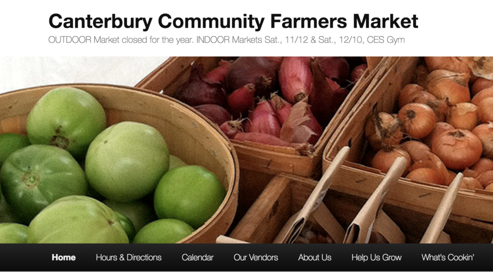 Cantebury Farmers Market Wednesdays - Visit Thistle's every Wednesday afternoon