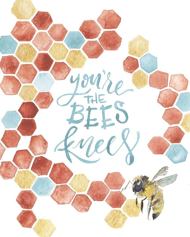 Buzzing off of some Valentines candy today, so I thought I'd share some of my favorite affirmation prints for all you fly honeys. Because you really are the bees knees. 🐝💛😘