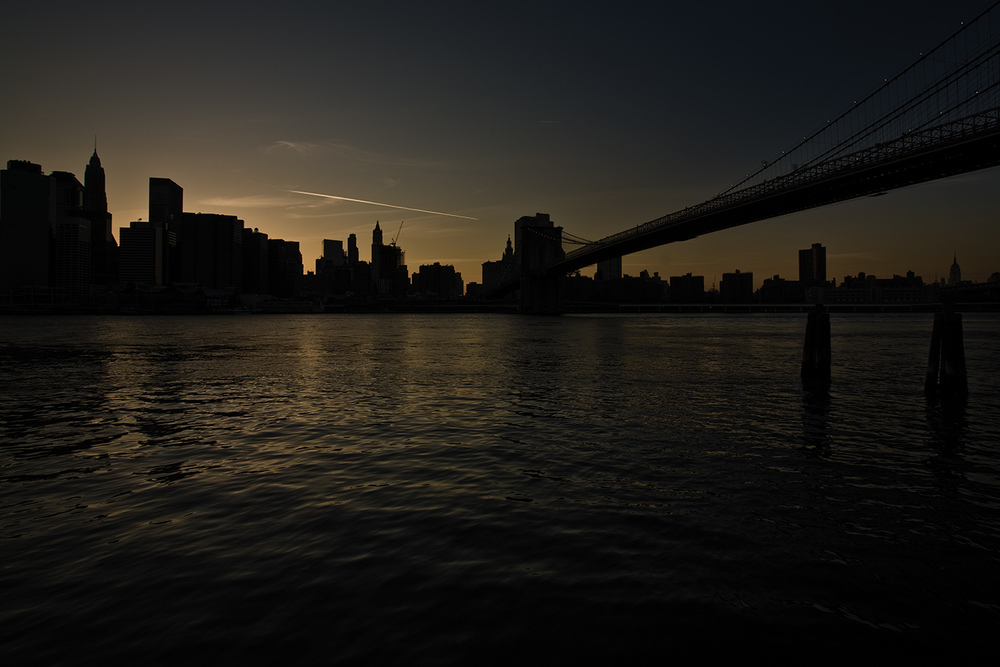 SUNSET ON HUDSON RIVER - Manhattan