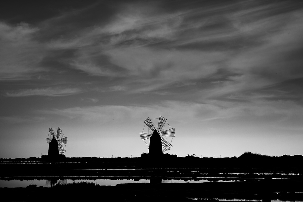 WINDMILLS - Stagnone, Sicily