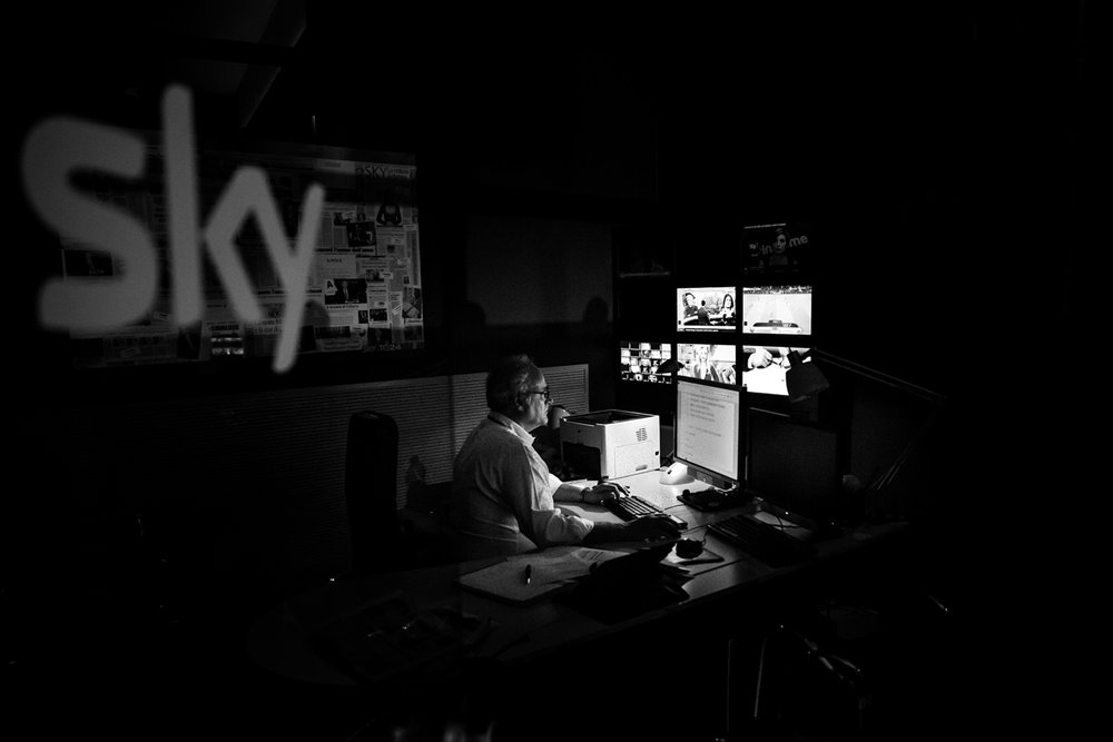 Sky TG24 - Walking In the Newsroom