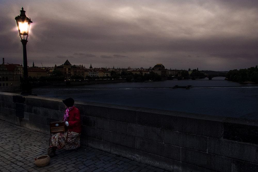 ON THE BRIDGE -Prague
