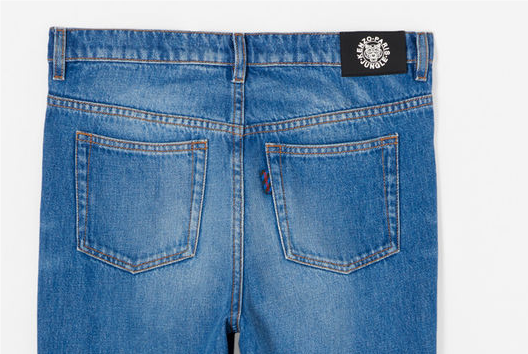 Kenzo jeans with Kenzo tab and pocket tab