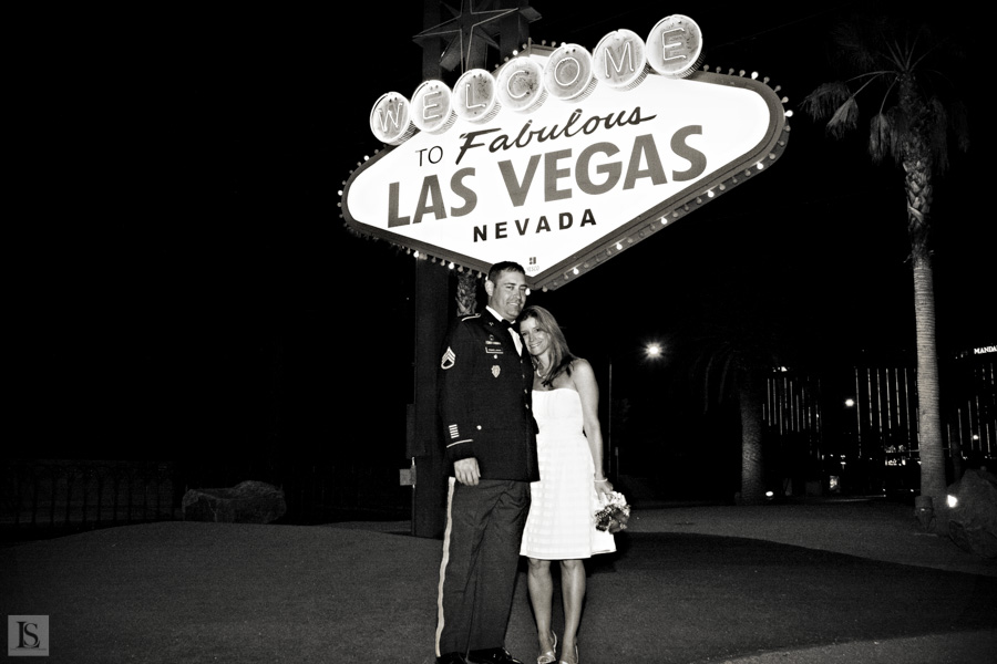 wedding at welcome sign
