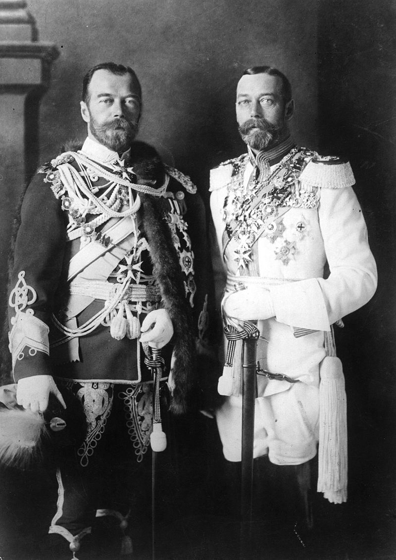 Striking resemblance between King and Tsar
