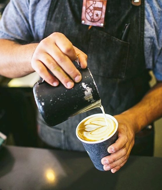 A little latte goes a long way. @portolacoffee right here in #LOT579.