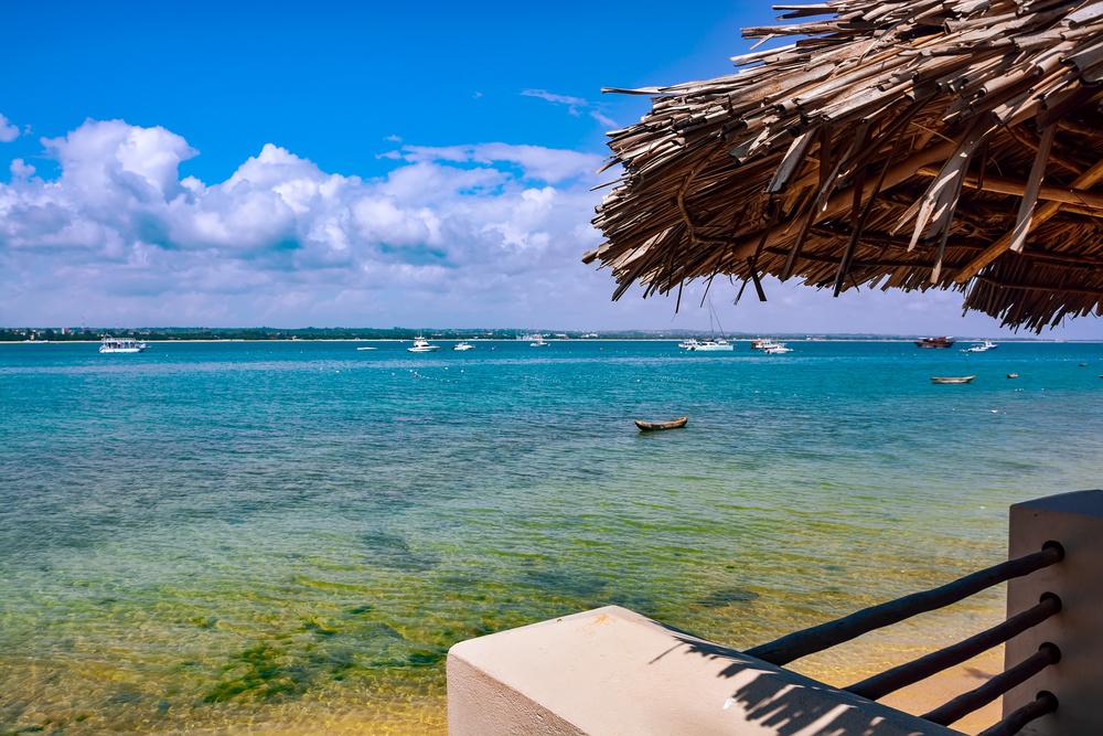 The coastline of Dar es Salaam.