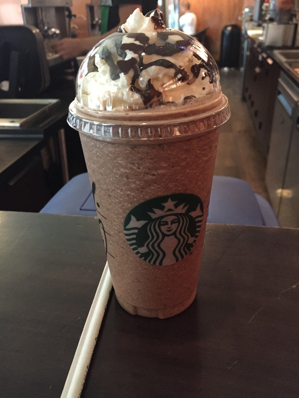 Double chocolate Frappuccino, Starbucks