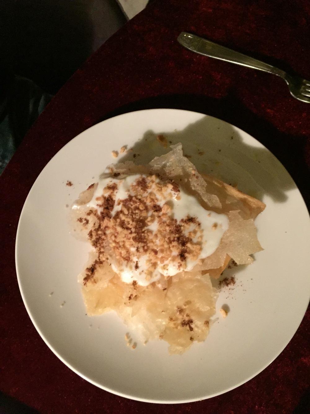 Pastilla au lait et aux amandes, Palais Soleiman