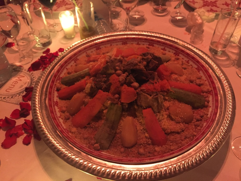 Couscous with beef and vegetables
