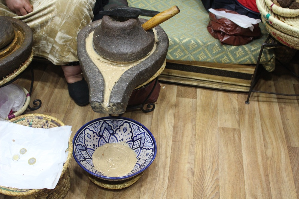 Grinding Argan seeds, The Medina