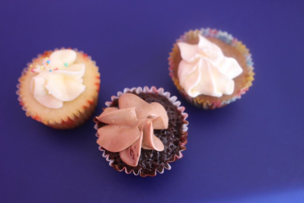 Vanilla, Chocolate and Apple Caramel mini Cuppies, The CuppyCake Shop