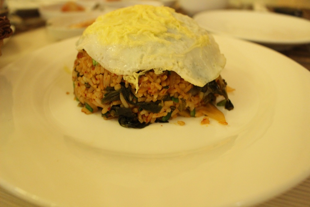 Kimchi Fried rice, topped with fried egg