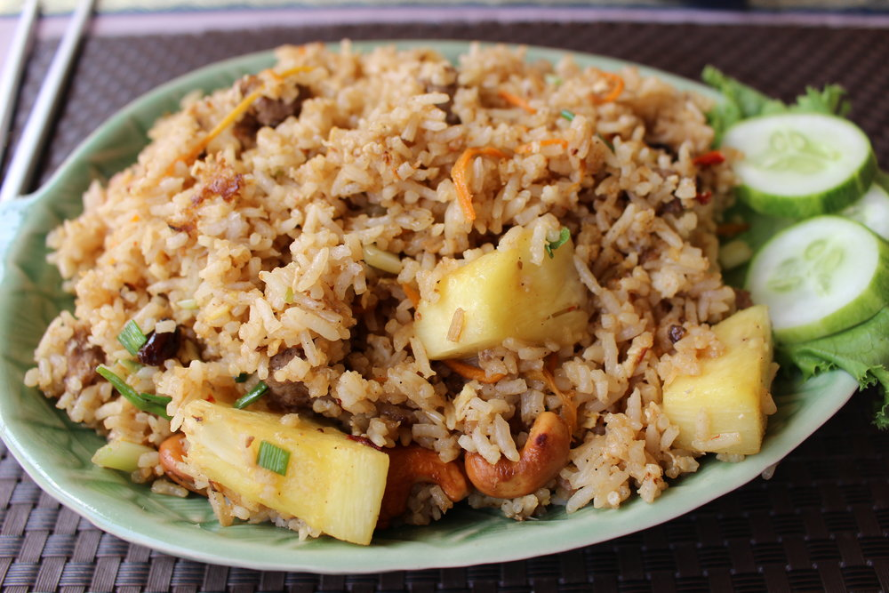 Thai Pineapple Fried Rice with beef
