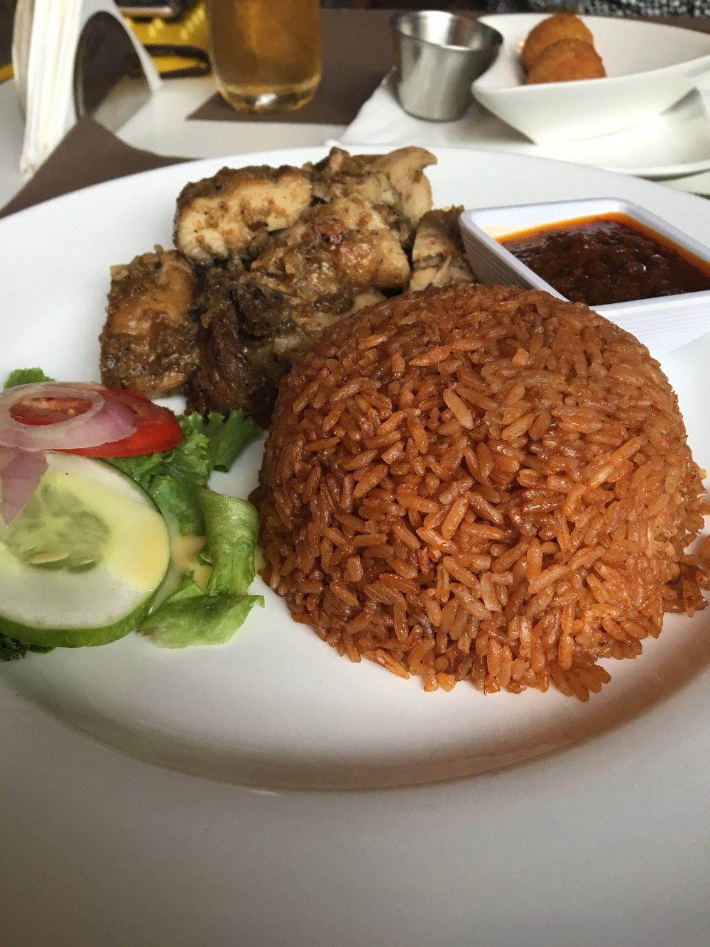 Jollof and chicken, Gold Coast