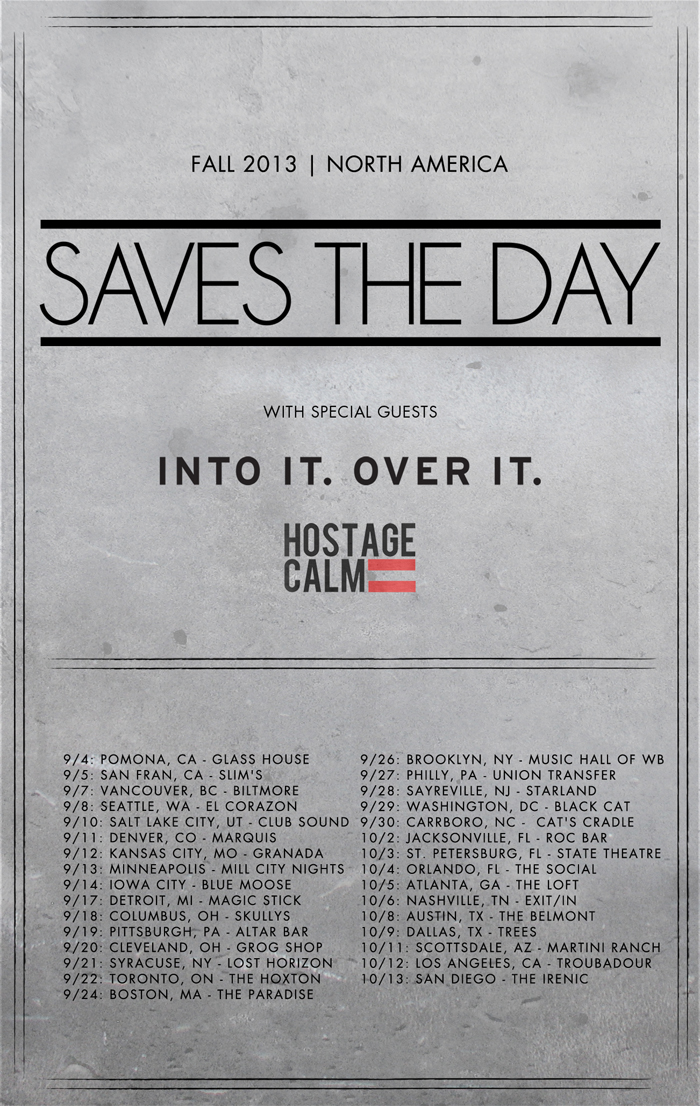 Saves The Day - Fall 2013 Admat (Dates Version-WebRes)