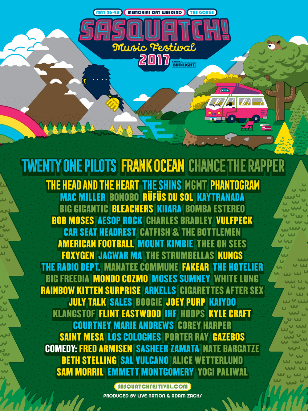 MGMT will be performing at the Sasquatch Music Festival, May 26-28. For tickets and more details go to: https://www.sasquatchfestival.com