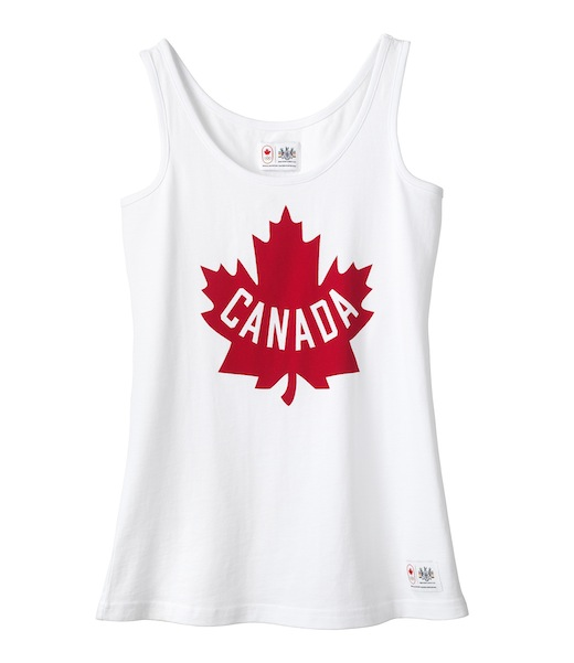 olympic collection women's cotton maple leaf tank top_$20.jpg