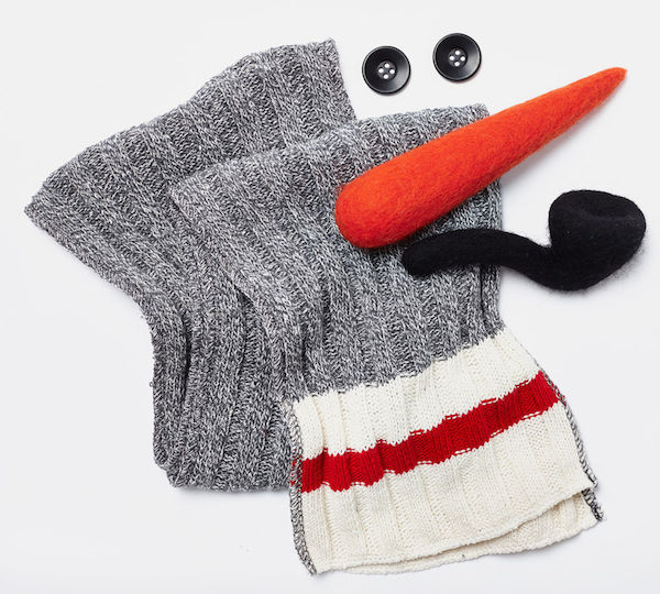 Snowman Kit with Cabin Scarf, $50, Roots