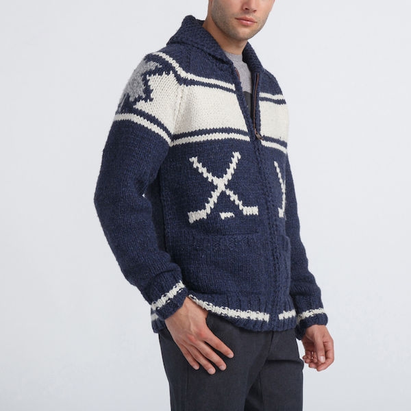 Mary Maxim Rink Sweater, $268, Roots