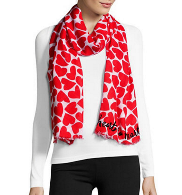 Kate Spade NY Heart-to-Heart Scarf, $118, Hudson's Bay