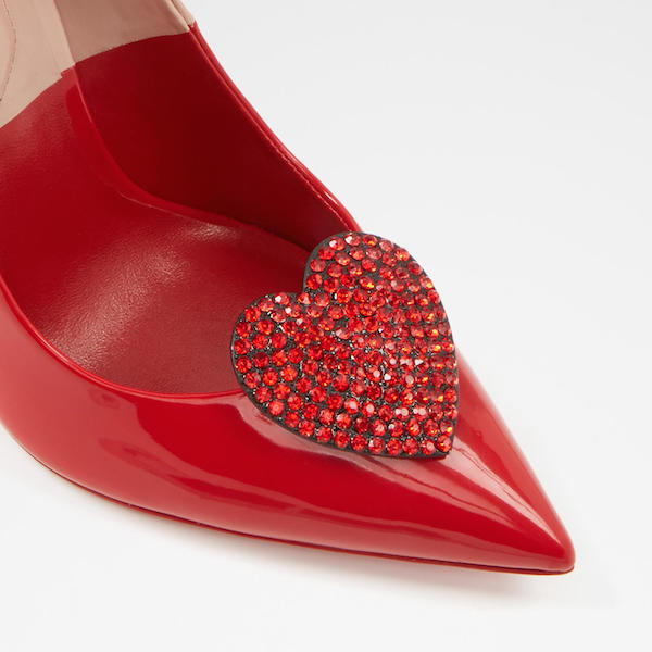 Rhinestone Heart Shoe Clips, $20, ALDO