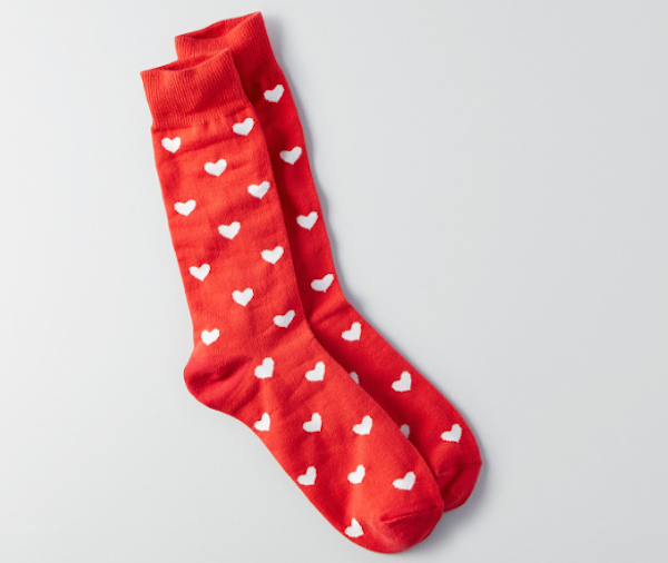 Red Heart Socks, $11, American Eagle