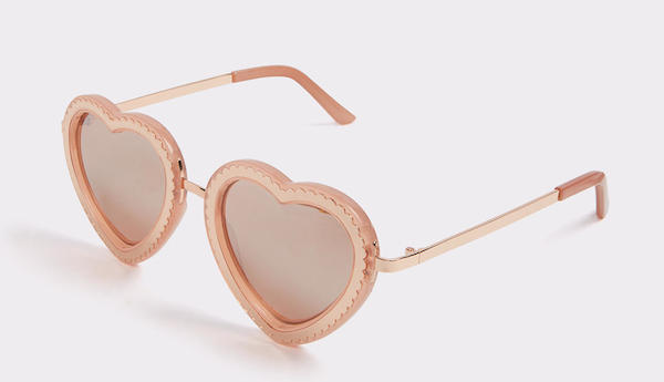 Gold Heart Sunglasses, $16, ALDO