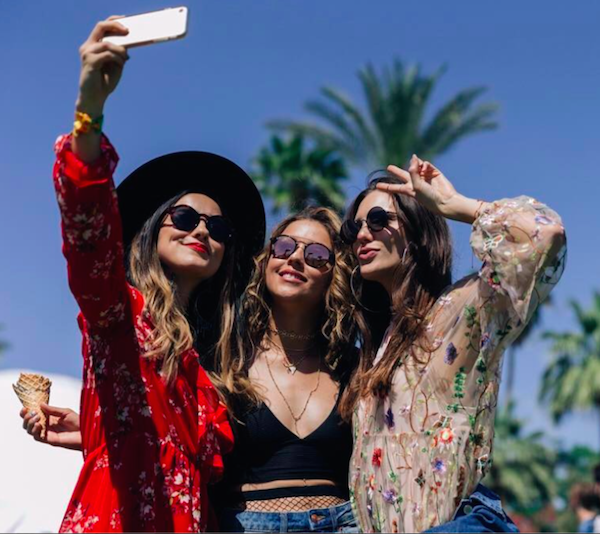Coachella girls via  H&M on Instagram