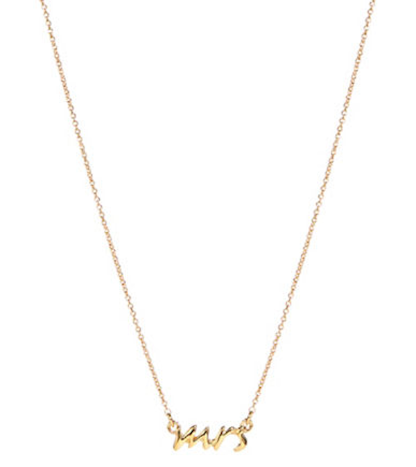 Kate Spade Mrs. Necklace, $88, Hudson's Bay