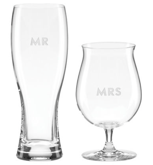 Kate Spade Darling Point Beer Glasses, $70, Hudson's Bay