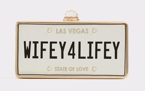 Wifey4Lifey Box Clutch, $45, ALDO
