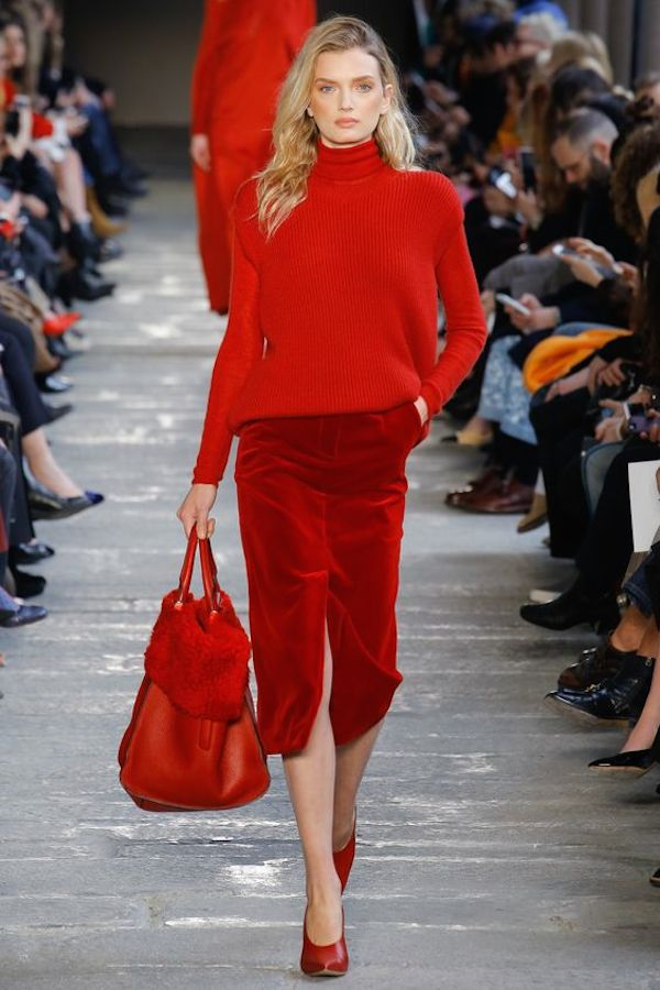Red hot at Max Mara via  Vogue