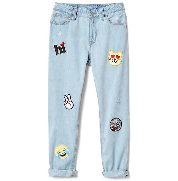 Sequin Patch Girlfriend Jeans, $50, GapKids