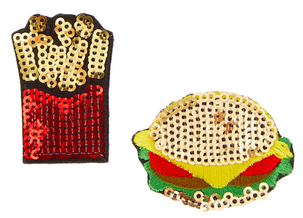 Burger & Fries Pins, $7, Claires