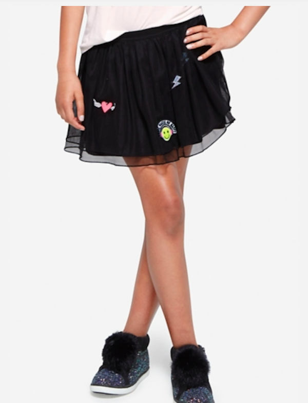 Patch Tulle Skirt, $25, Justice
