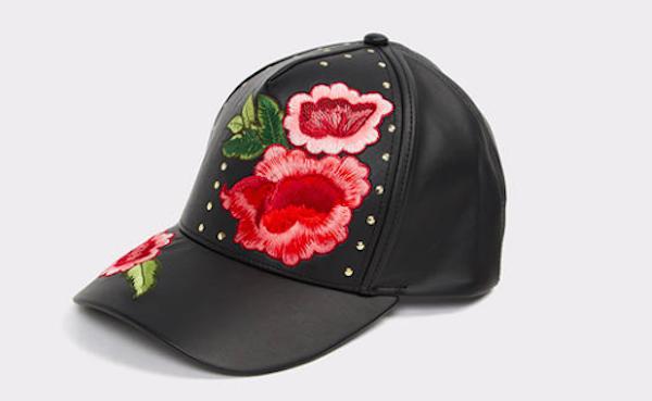 Floral Embroidered Baseball Cap, $25, ALDO