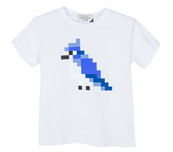 Drake General Store Pixel Blue Jay Cotton Tee, $38, Hudson's Bay