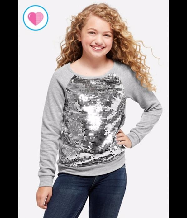 Flip Sequin Sweatshirt, Justice