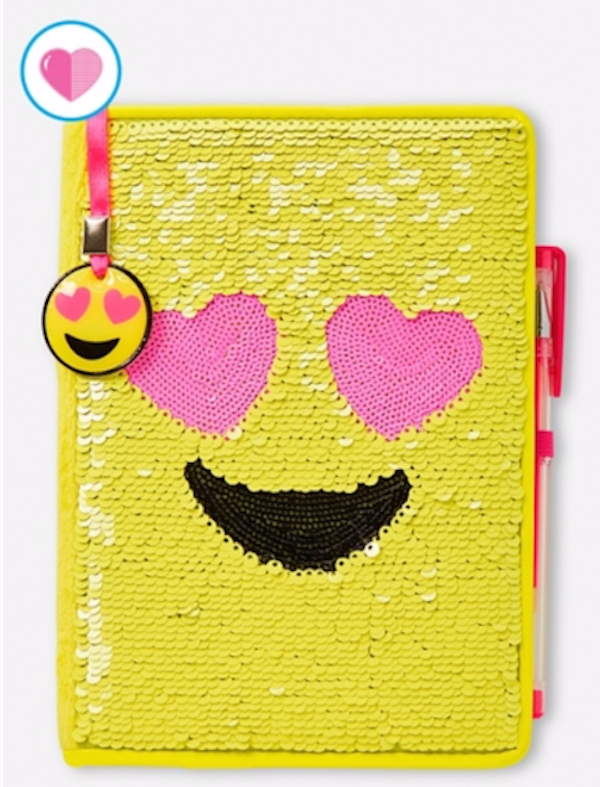 Emoji Flip Sequin Journal, Justice