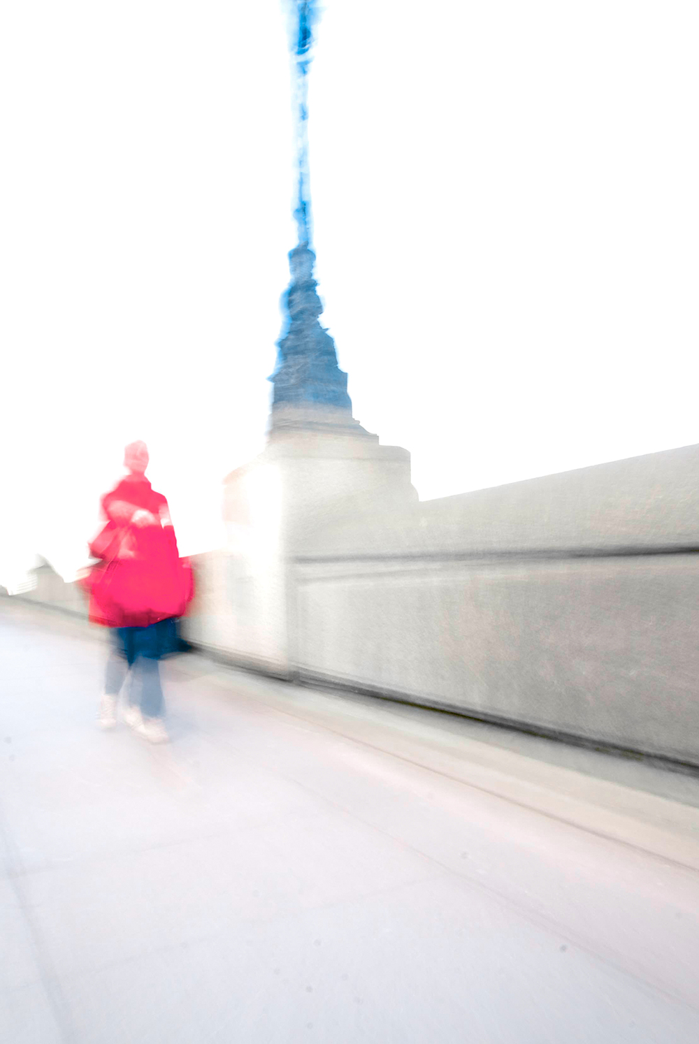 Pink Walker on the South Bank.