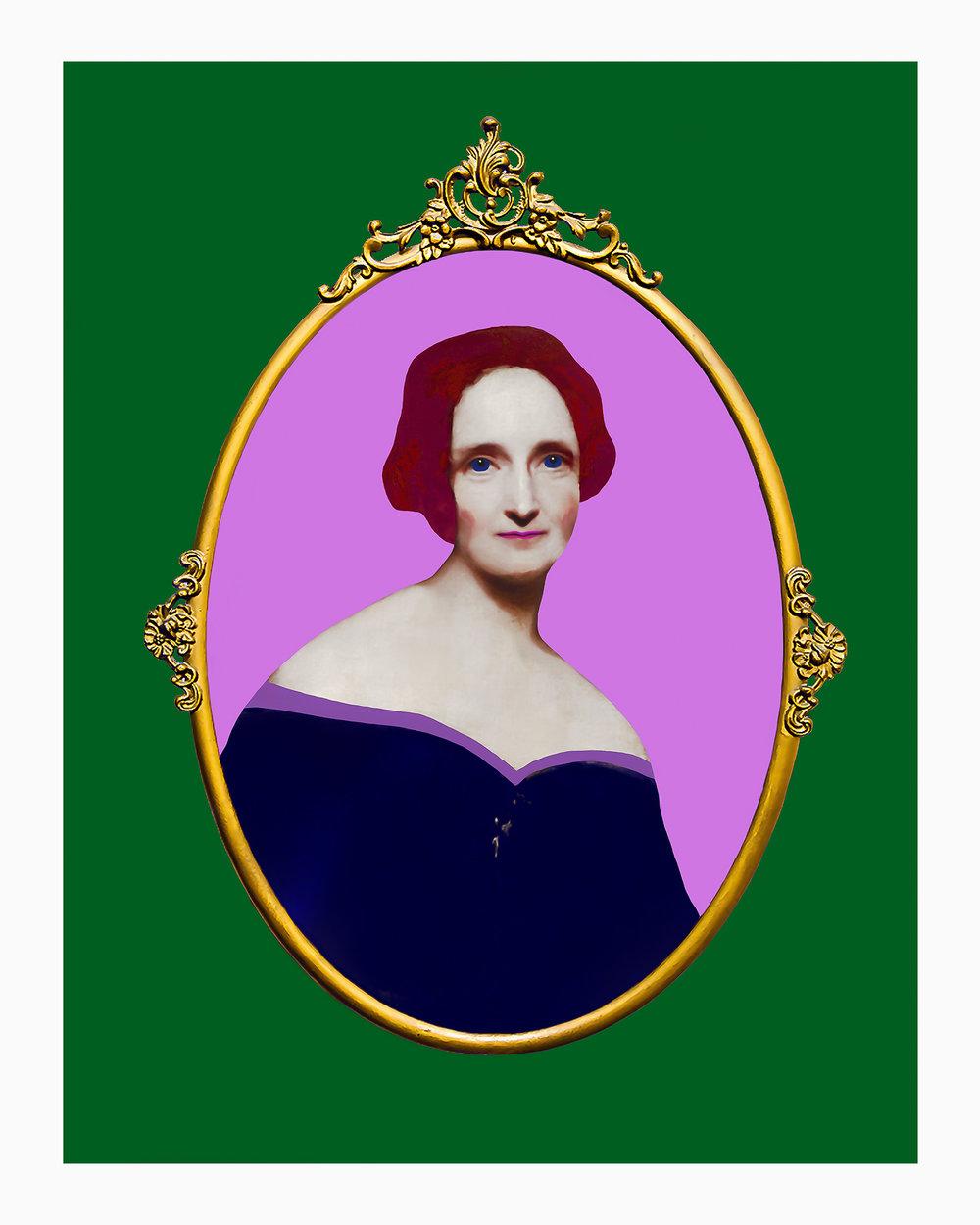 Mary Shelley Framed.