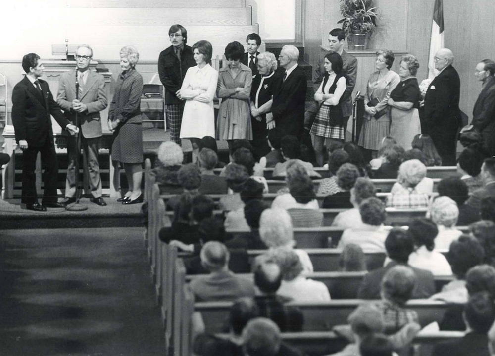 Sharing sessions have been a vital part of the revival ministry. (1972)