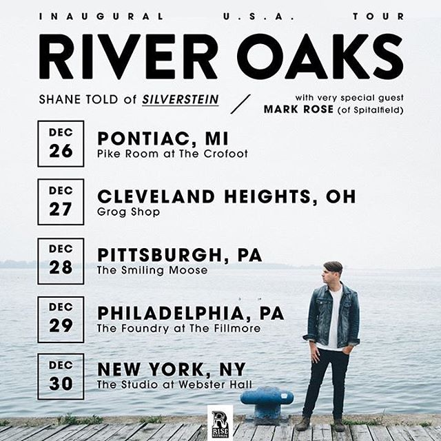 This starts in a few weeks!  Can't think of a gift for a loved one?  Give the gift of @shanetold serenading you both as he plays River Oaks and Silverstein songs.  Expect a nice long set and a good time!  Tickets at riveroaksmusic.com and don't forget @mrmarkdrose of Spitalfield will also be there!