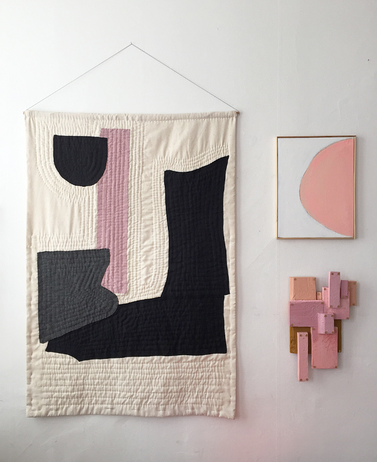 Wall hanging. Textile collage. 2015