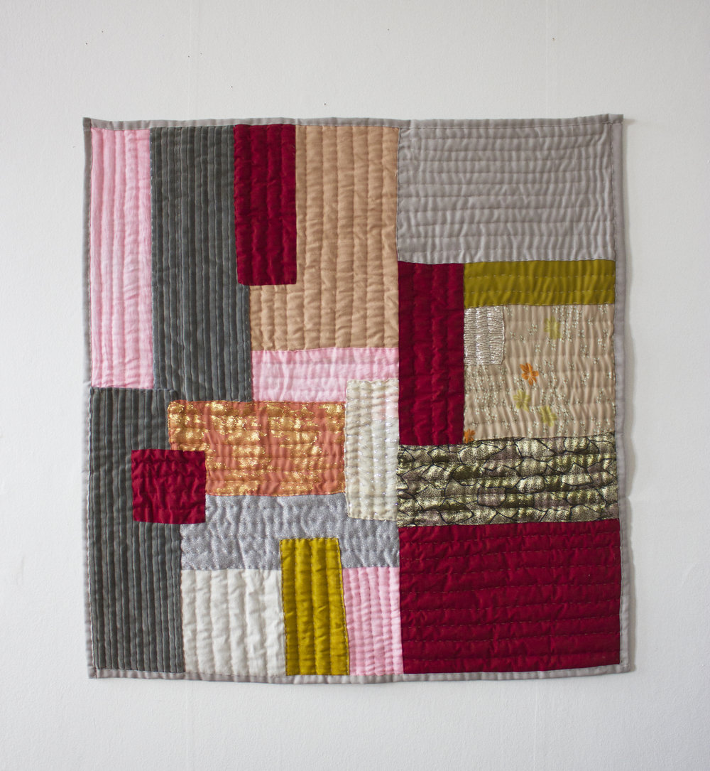 Textile quilt wall hanging. 2015  110cmx110cm