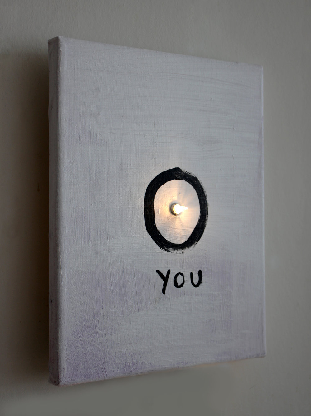 You. 2017. Canvas and light. 24x30